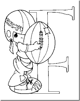 precious moments jesus loves me coloring pages | Alphabet Precious Moments Coloring pages