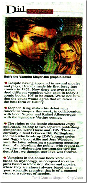 Deccan Chronicle Chennai Chronicle Dated 20032010 Vampires in Graphic Novels