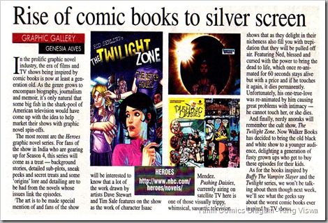 Deccan Chronicle Chennai Chronicle Dated 17032010 Graphic Gallery Rise of Comics in Silver Screen