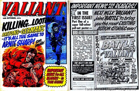 Valiant Last Issue Dated 16-10-1976 Cover and Merger Ad