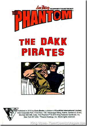 Euro Books Phantom Series Book No 1 The Dakk Pirates 1st Page