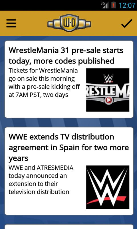 Wrestling-Online.com News - screenshot