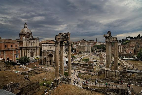 Foros Imperiales desde el balcon de los Museos Capitolinos (Musei Capitolini)Roma, Italia.