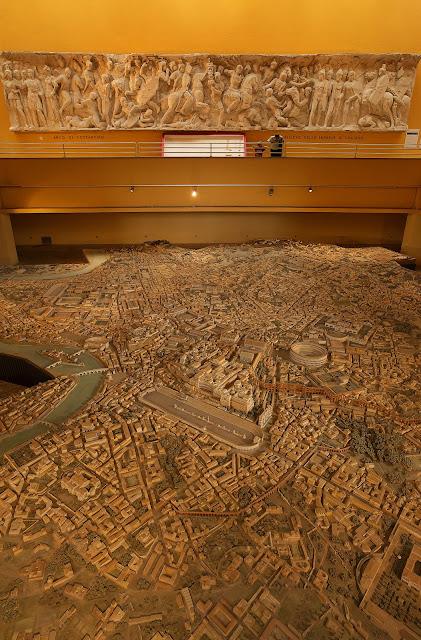 Gran maqueta de la Roma romana. Museo de la Civilización Romana (Museo della Civiltà Romana), situado en la zona EUR.Roma, Italia.
