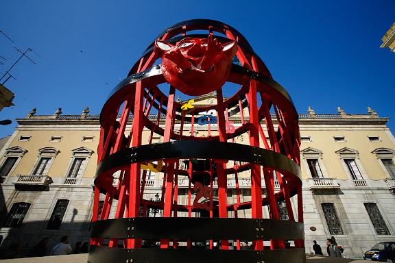 Carnaval de Tarragona, dimarts (21.02.2006)Plantada de la Bota i prensentació del Ninot i la Ninota