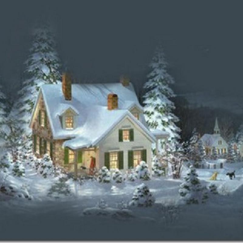 Imágenes de paisajes nevados para Navidad