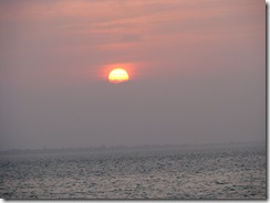 5353 Sunset as seen from Louie's Backyard South Padre Island Texas