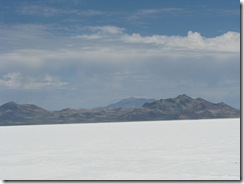 1954 Bonneville Salt Flats as seen from I 80 West Rest Area UT