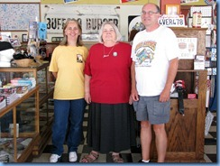 6567 Historic Route-66 US-60 Karen, (owner) Laurel Kane and Bill at Afton Station Afton OK