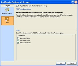 task rss feeds reported error outlook 2007