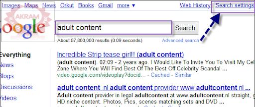 كيفية البحث عن المواقع الاباحية