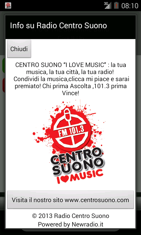 Radio CENTRO SUONO- screenshot