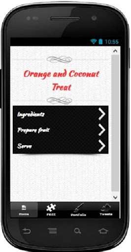 Orange and Coconut Treat