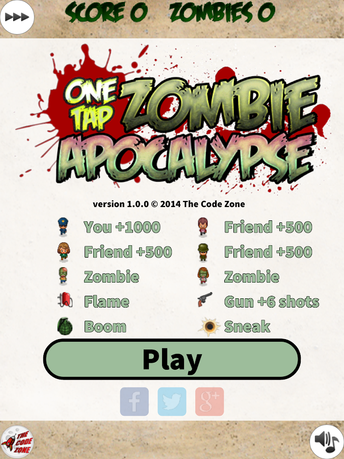 One Tap Zombie Apocalypse- screenshot
