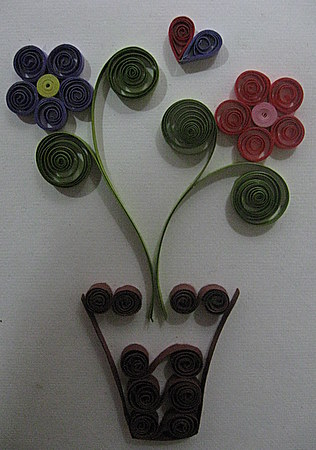 Quilling Pattern Flower Pot