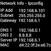 IPCONFIG - Get MAC IP ADDRESS