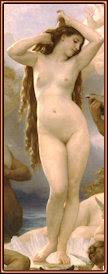 El nacimiento de Venus. William Bouguereau (1825-1905). Museo d'Orsay