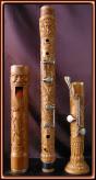Flauta bajo. Talla en madera