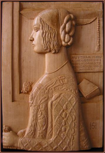 Retrato de Giovanna Tornabuoni. Talla en madera