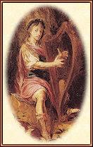 Orfeo tocando el arpa, por Michael Willmann (1630–1706)