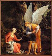 Un ángel se aparece a la esposa de Manué. Saraceni
