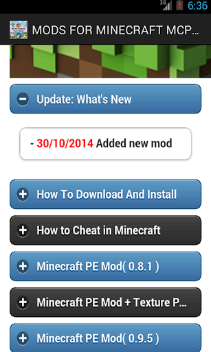 Mods For Minecraft MCPE Pixel