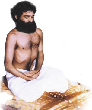 PujyaBapuji doing Sadhna