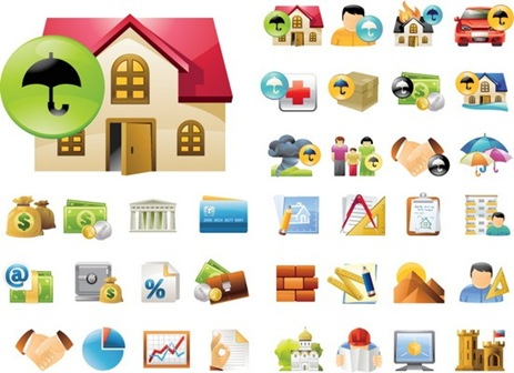 Real Estate Vector Icons [EPS]
