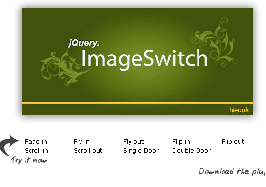 jQuery and ImageSwitch in web design
