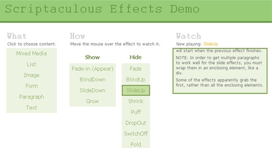 Scriptaculous-Effects-Demo