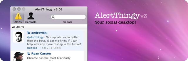AlertThingy - Your social deskop!