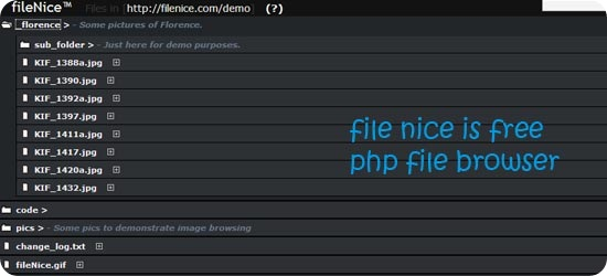 filenice is free php file browser
