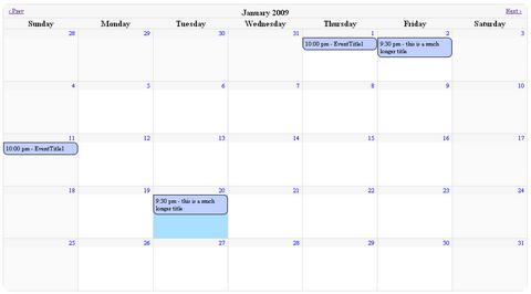 7 interesting jQuery calendar plugins
