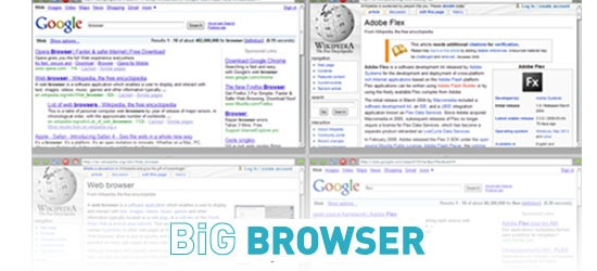 Big Browser - A cross-platform multi-windows browser