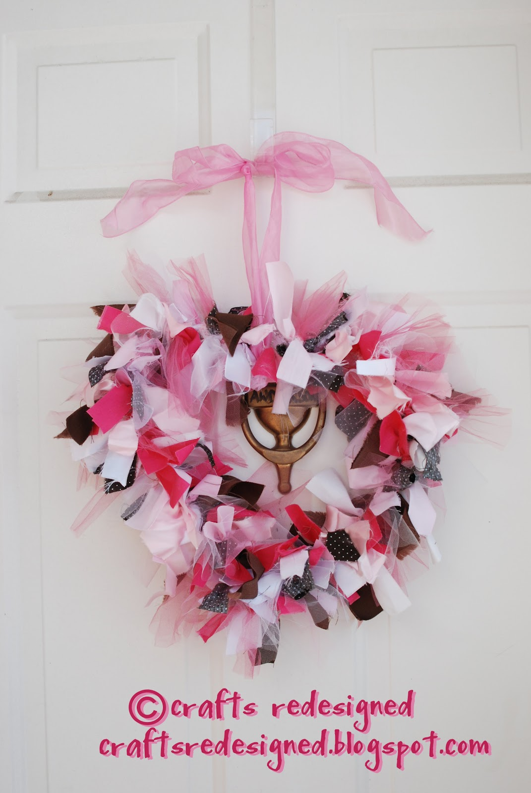 Crafts Redesigned Valentine Door Wreath