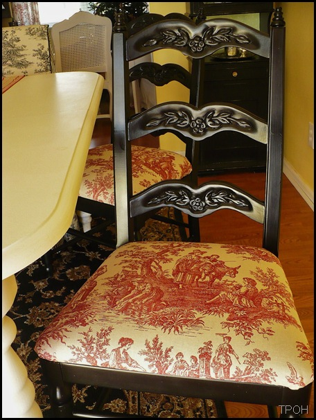 red toile chair