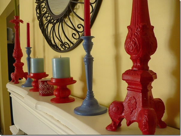 red and blue candlesticks