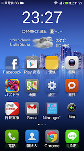 Weather Clock Widget for World