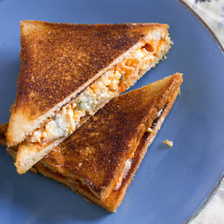 Buffalo Chicken Grilled Cheese Sandwich.