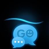 GO SMS Theme Blue Simple Buy