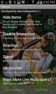SARASWATI HQ Live Wallpaper - screenshot thumbnail