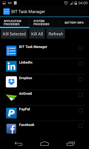 Where ican find task manager in samsung galaxy s3?