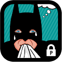 Funny betman protector theme icon