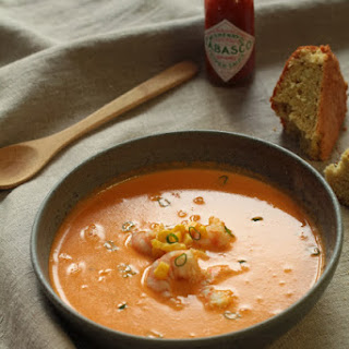 Shrimp Bisque and Cornbread.