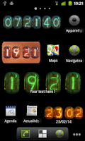 Screenshot of Nixie Clock Widget Deluxe