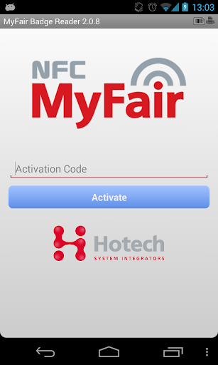 NFC MyFair Badge Reader