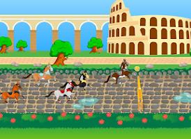 Screenshot of Roman Horses - Girl Racing