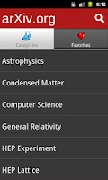 Screenshot of arXiv mobile