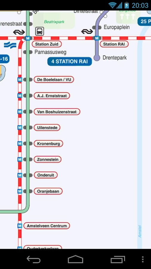 Amsterdam Metro and Tram Map- screenshot