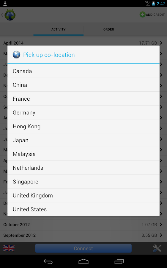 Tigervpns Android VPN - screenshot